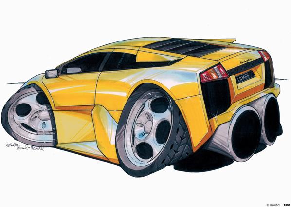 Lamborghini Murcielago Jaune