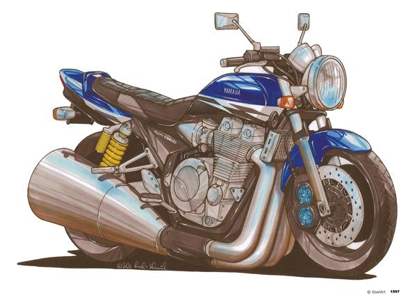 Yamaha XJR Bleue