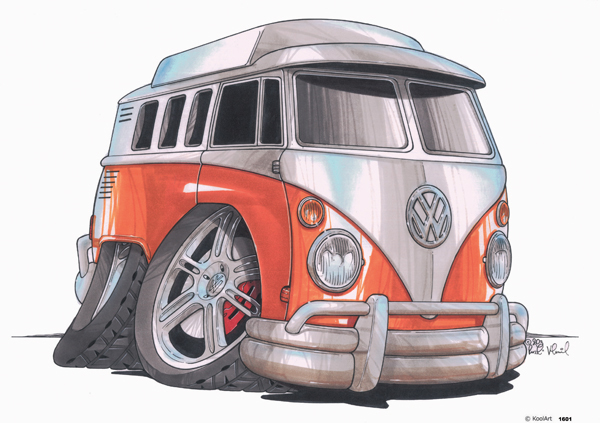 Volkswagen Combi Orange