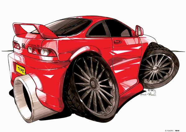 Honda Integra Type R Rouge