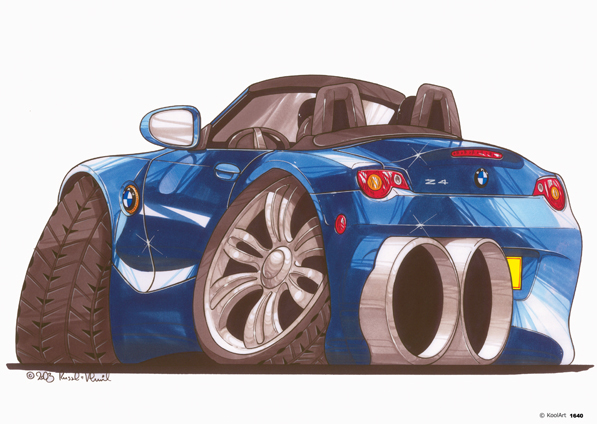 BMW Z4 Cabriolet Bleue