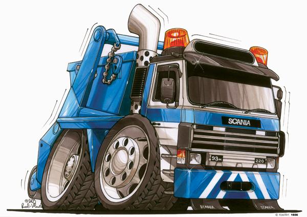 Camion Scania Bleu