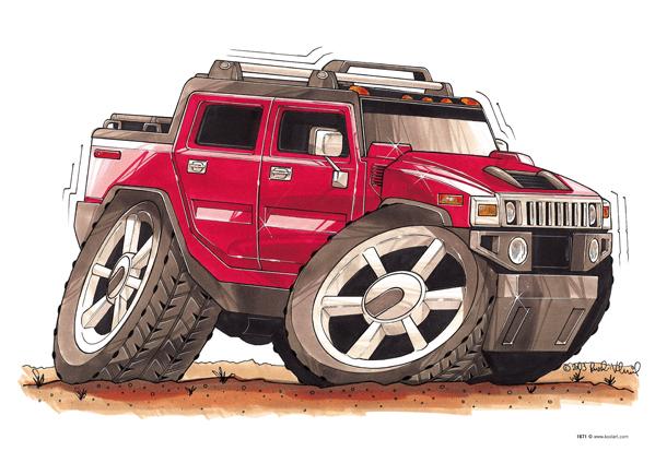 Hummer H2 Rouge