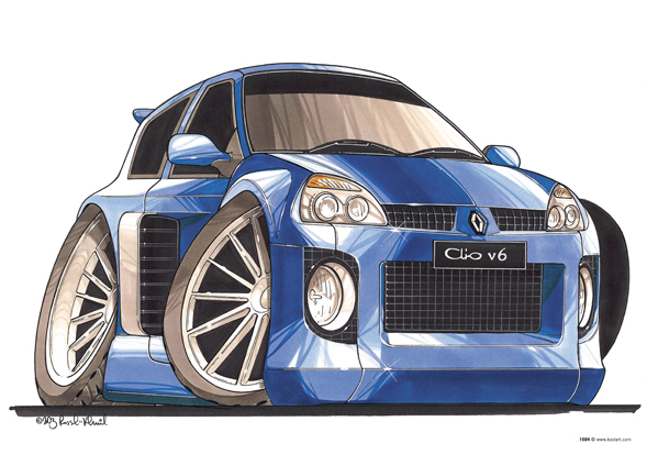 Renault Clio V6 Bleue