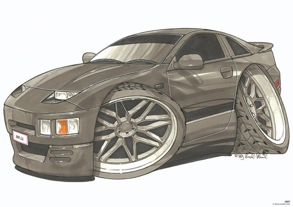 Nissan 300 ZX Noire
