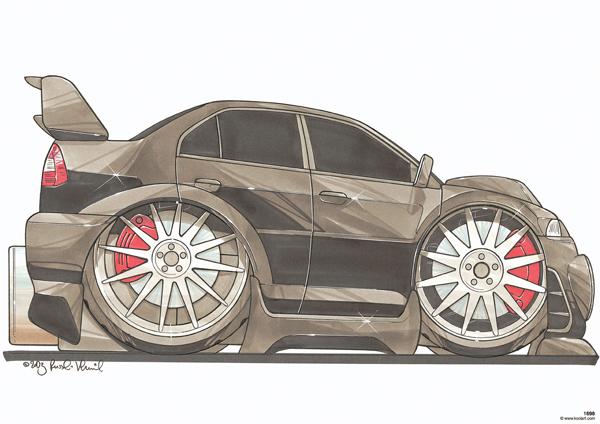 Mitsubishi Evo Noire