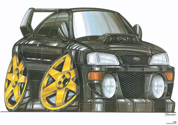 Subaru Impreza Noire