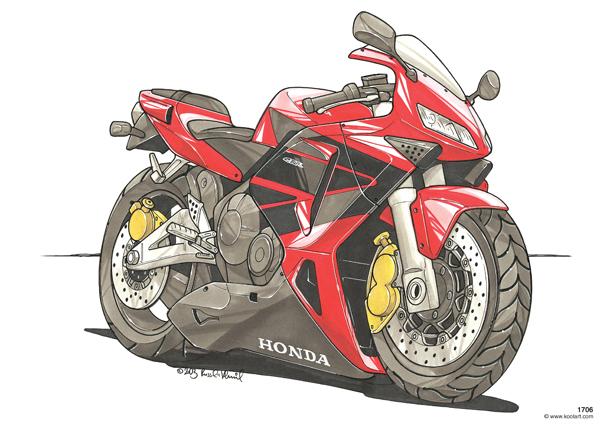 Honda CBR 600RR Rouge