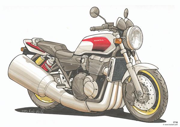 Honda CB 1300 Blanche