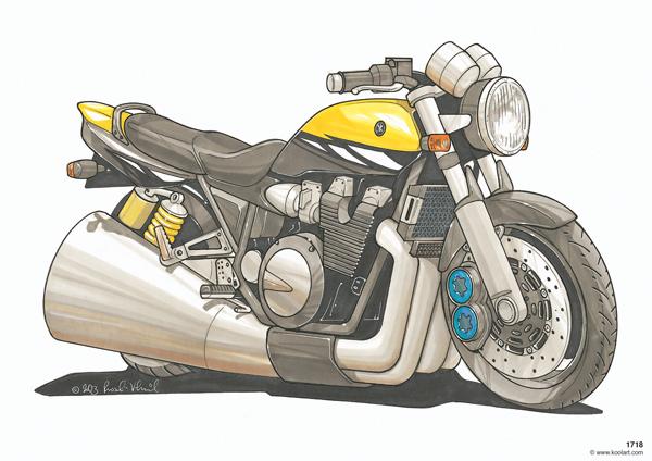 Yamaha XJR Jaune