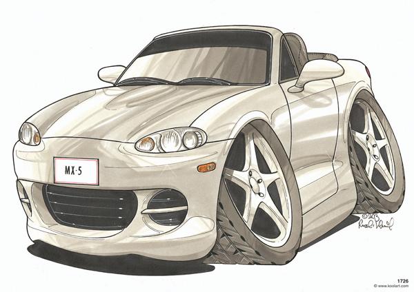 Mazda MX5 Cabriolet Grise