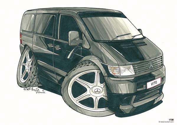 Mercedes Vito Fourgon Noir