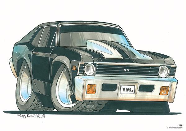 Chevrolet Nova 71 Noire
