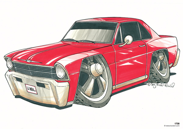 Chevrolet Nova 67 Rouge