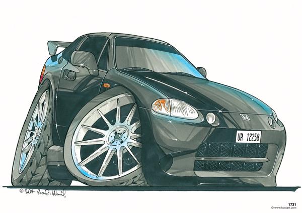 Honda Civic CRX Noire