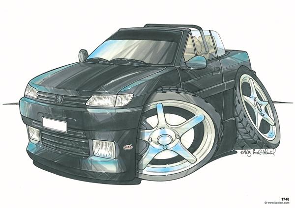 Peugeot 306 Cabriolet Noire