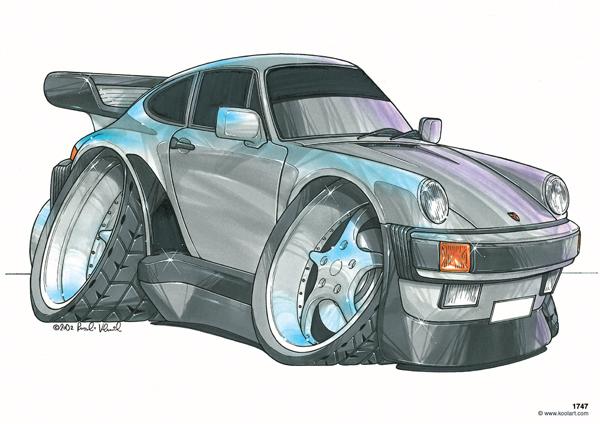 Porsche 911 Turbo Grise