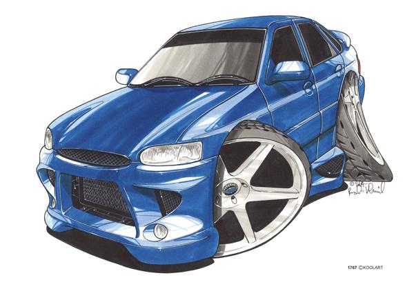Ford Escort Bleue
