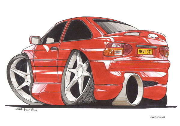 Ford Escort GTI Rouge