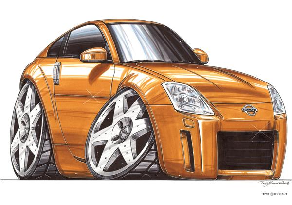 Nissan 350 Orange