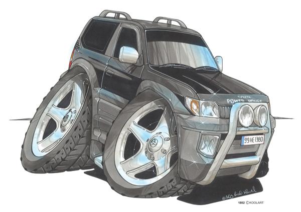 Toyota Land Cruiser Noir