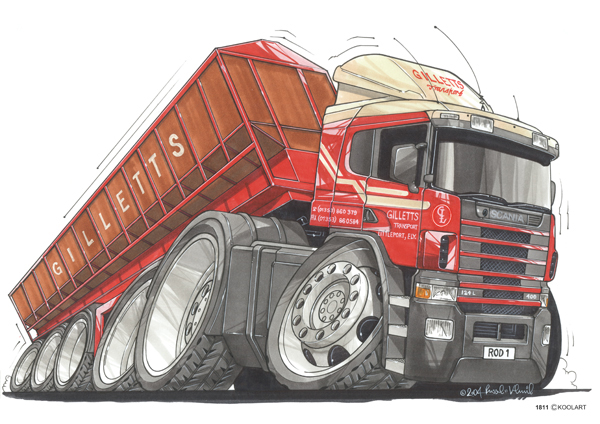 Camion Scania Rouge