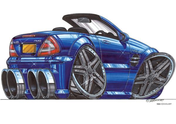 Mercedes AMG V12 Bleue
