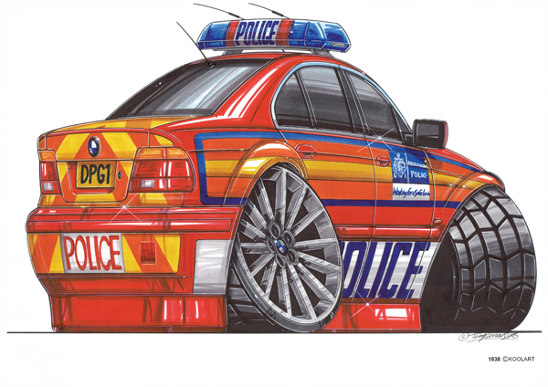 Voiture Police BMW Rouge