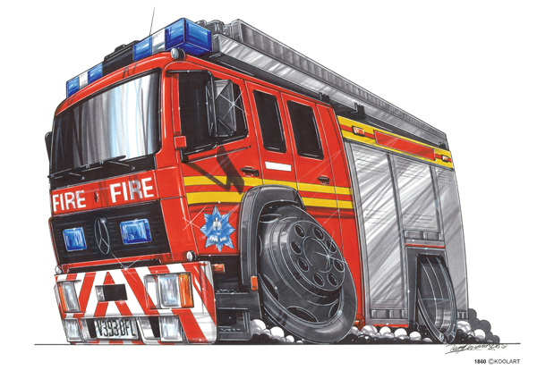 Camion Pompier Mercedes