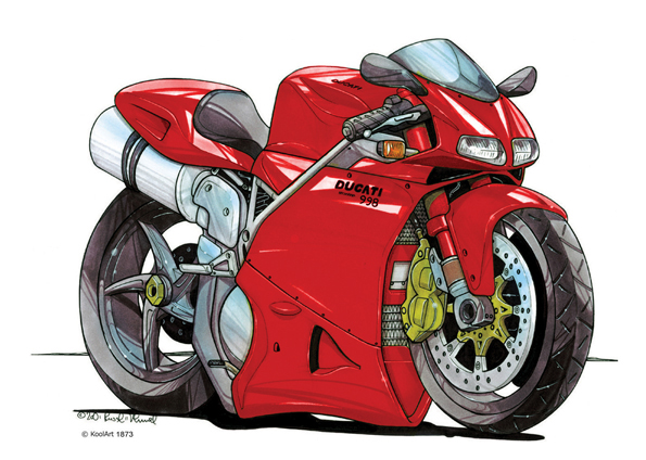 Ducati 998 Moto Rouge