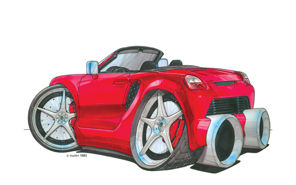 Toyota MR2 Cabriolet Rouge