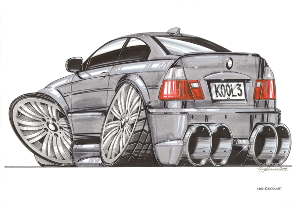 BMW Serie 3 Arriere Grise