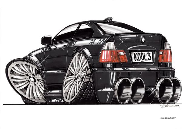 BMW Serie 3 Arriere Noire