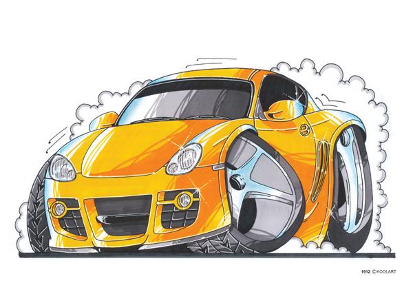 Porsche Cayman Jaune