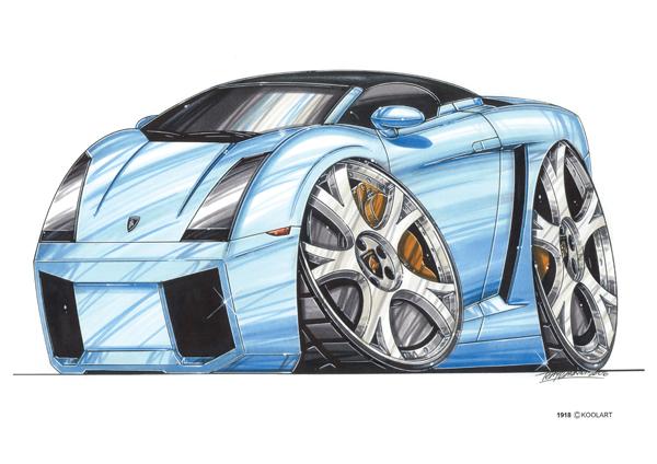 Lamborghini Spyder Bleue