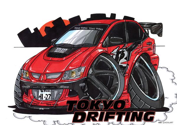 Mitsubishi Evo Tokyo Drift