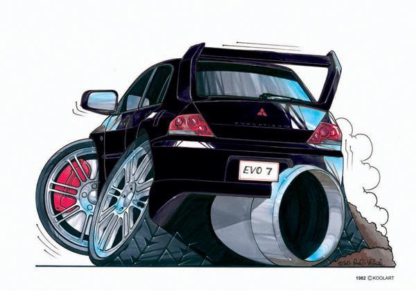 Mitsubishi Lancer Evo Violette