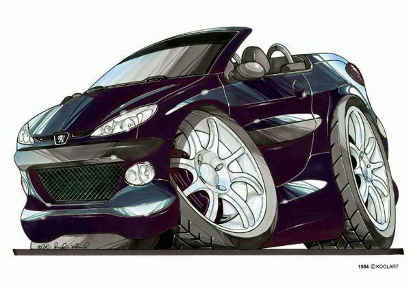 Peugeot 206 CC Violette