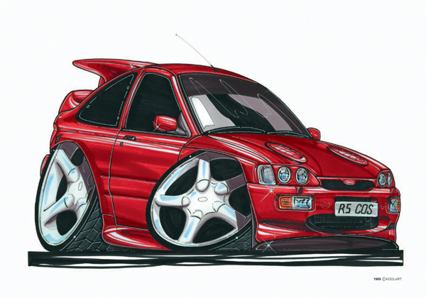 Ford Escort Cosworth Rouge