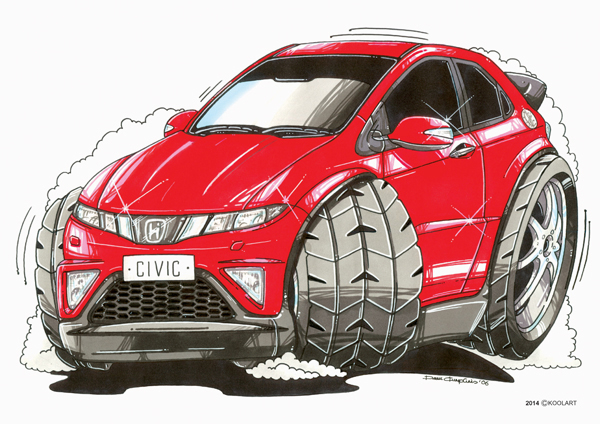 Honda Civic Rouge