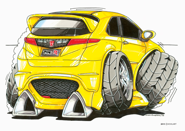 Honda Civic Type R Jaune