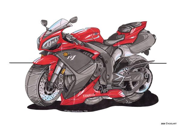 Yamaha R1 Rouge et Noire