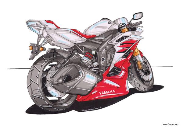 Yamaha R6 Blanche