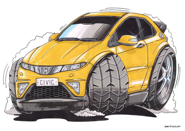 Honda Civic Jaune