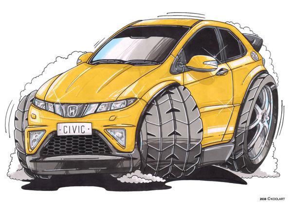 Honda Civic Jaune