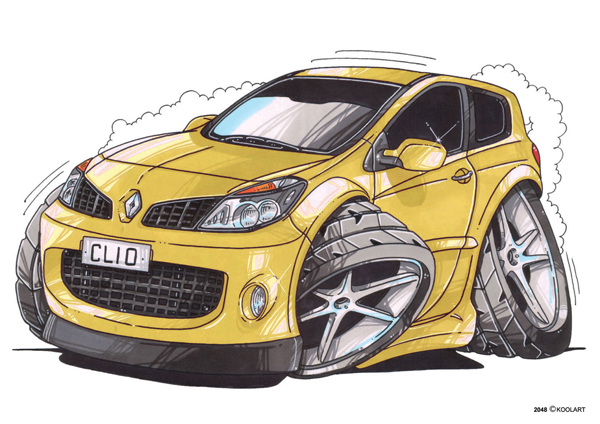 Renault Clio 3 Jaune