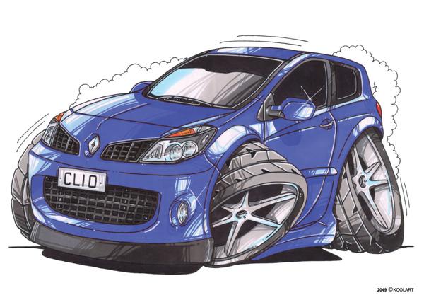Renault Clio 3 Bleue