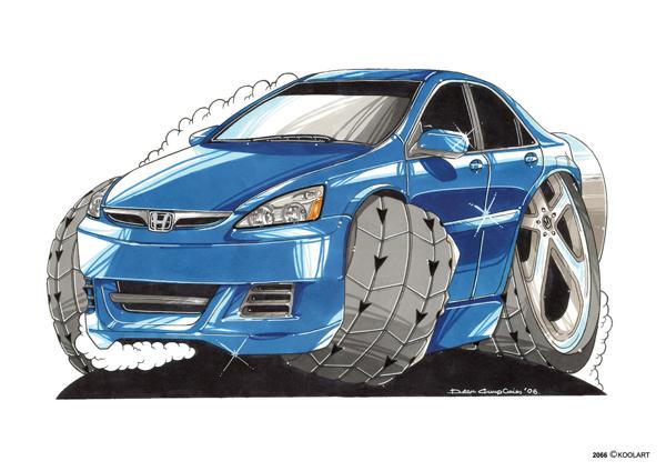 Honda Accord Bleue