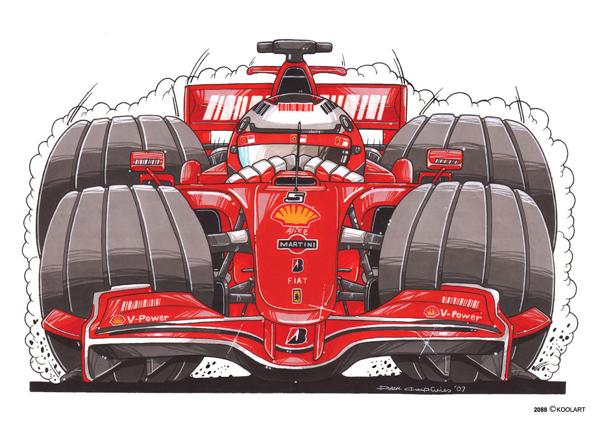 Formule 1 Ferrari Rouge
