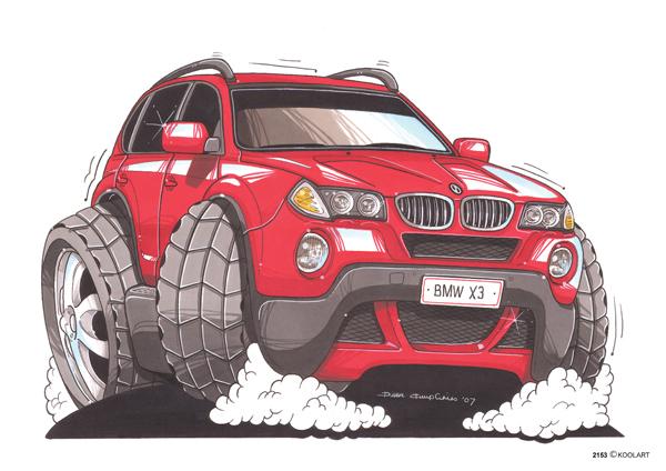 BMW X3 Rouge